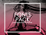 FontsPack by CandyBiebs