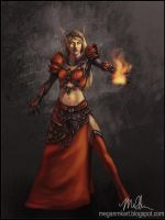 Blood Elf Mage by megillakitty