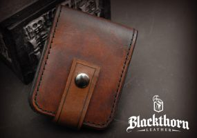 Card Wallet Front by Blackthornleather