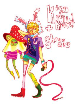 Rabbit King and Shroomie by alphabet-takeout