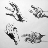 Anatomy Study hands sketch 2 by RichardBlumenstein