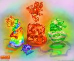 Jelly dragon jigglers by The-SixthLeafClover