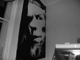 James Hetfield in Wall by qamil18