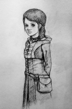 Witcher Inspired Girl Drawing by Eman-Ekaf