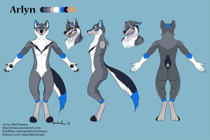 Commission - Arlyn Reference Sheet by OllyChimera