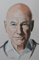Patrick Stewart by Andromaque78