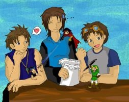 With my Boys by DesShade