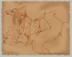 Mythology -Loki and Fenrir-