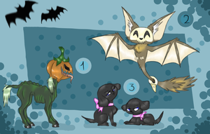 Halloween Adoptables (Closed) by GGFOX22