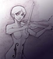 Sket - White Violin by Keiteki