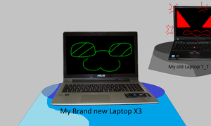 Old Laptop Vs New Laptop by HeroHeart001