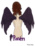 Raven colored by Ookami-Yuki