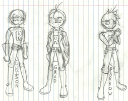 New Character designs by shadowlover19