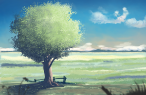 Valley Tree by Leo-Aba