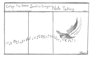 College Tips from a Smallish Dragon: Note taking by Feanor-the-Dragon