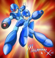 Megaman and X by Memphiston