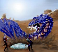 Blue Dragon by Raydal