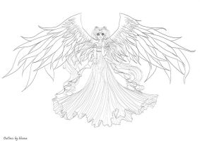 Angel Serenity - Outlines by bloona
