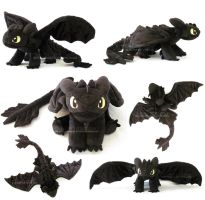 Toothless/Night Fury 2.0 by MagnaStorm