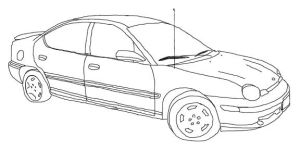 Line Art: bf's car by Morbia