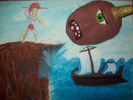 Odysseus and the Cyclops by ReturningDragon