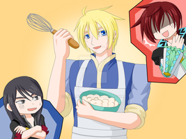 Tales - Cooking with Flynn by Akiyama-Lhant