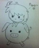 Veronica and Piggy~ by CaffrinLuvsDHMIS