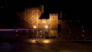 Cardiff Castle at Night by Mixdown13