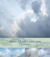 Clouds 1 stock pack by dierat-stock