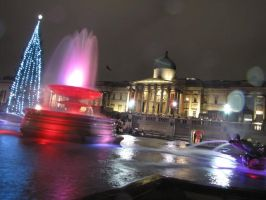 Christmas in Trafalgar Square by Svenjamin