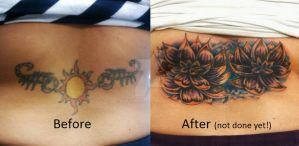 Lotus Cover Up Tattoo by VanZanto