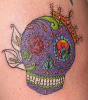 My sugar skull by torchbynight