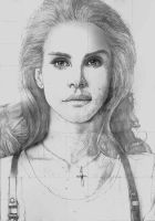 Lana Del Rey SKETCH by Yankeestyle94