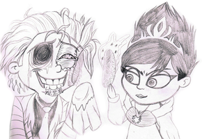 un undead fred meets evil Elsa by sixteen6stars