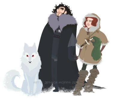 Jon and Ygritte color by pixarjunkie