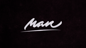 Man l Lettering Wallpaper by HipsterImba