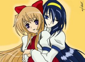 Chikane and Himeko Color by AnnieAngelofFire