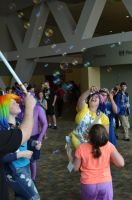 BronyCon 2013 - catching Bubbles by AleriaVilrath
