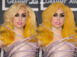 Lady Gaga edit Before+After by ItsCrazyConnor