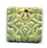 Avocado Glaze Ceramic Pendant by ChinookDesigns