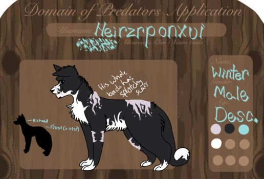Winter DOP Kynikos Pack Application by Heirzrponxui