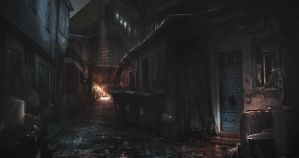 Alleyway Night by JackEavesArt