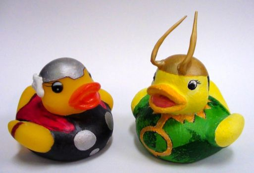 Thor and Loki Duckies by Caen-N