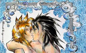 Zack and Cloud by discarded