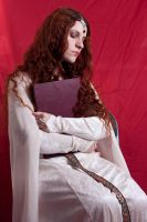 Fantasy Stock X sitting with book by DanielleFioreModel