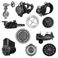 11 Steampunk Brushes by Spyderwitch