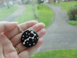 Constellation Stars Handmade Necklace by QuirkyCabbage
