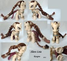 Slave Leia unicorn pony by Roogna