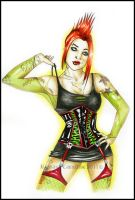 acid pin up by RossanaCastellino