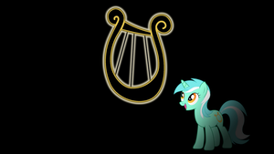 Lyra Glowing Cutie Mark Wallpaper by alexram1313